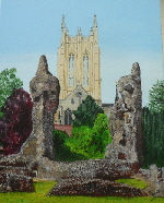 artwork steven kent The Cathedral Tower from the Abbey Ruins  1